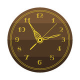 Het de cirkelteken van de muurklok met het hulpmiddel van de chronometerwijzer en van het de snelheidsbureau van de uiterste term Stock Afbeelding