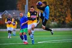 Het de clubVoetbal Goalie van Mens spaart royalty-vrije stock fotografie