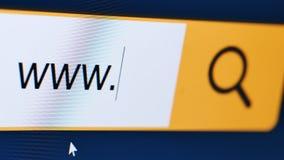 Het de computerscherm van de Wwwclose-up stock videobeelden