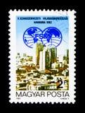 het 10de Congres van de Wereldvakbond, serie, circa 1982 Royalty-vrije Stock Foto's