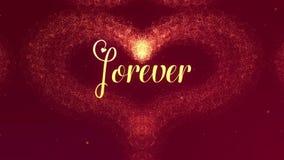 Het de Daghart van Valentine van gouden plons wordt gemaakt die verschijnt Dan verspreidt het hart Vaag begin ge?soleerde royalty-vrije illustratie