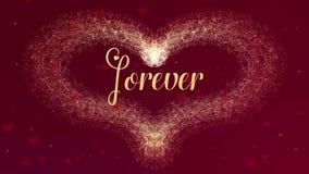 Het de Daghart van Valentine van gouden plons wordt gemaakt die verschijnt Dan verspreidt het hart Vaag begin ge?soleerde stock illustratie
