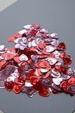 Het de daghart van Valentine vormde bossamenvatting met achtergrond tigh Stock Foto's