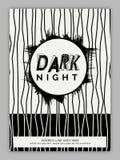 Het de donkere Vlieger of Pamflet van de Nachtpartij Royalty-vrije Stock Foto