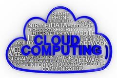 Het de gegevensverwerkingsconcept van de wolk geeft terug Royalty-vrije Stock Fotografie