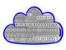 Het de gegevensverwerkingsconcept van de wolk geeft terug Stock Afbeelding