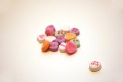 Het is de Harten van het Gesprek van de Dag van de Valentijnskaart van de Liefde Stock Afbeeldingen