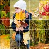 In het de herfstpark stock fotografie