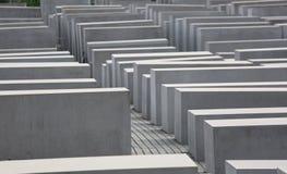 Het de Holocaustgedenkteken van Berlijn, Duitsland zestiende Augustus 2017 riep ook Monument aan de Moorde Joden Stock Foto's