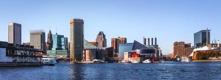 Het de Horizonpanorama Van de binnenstad van Baltimore royalty-vrije stock foto's