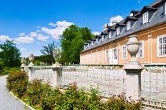 Het de jachtkasteel in de Klassieke stijl Kozel bouwde de 18de eeuw, Pilsen-gebied, West-Bohemen, Tsjechische republiek in stock afbeeldingen