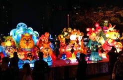 Het de Lantaarnfestival van 2018 in Taiwan Stock Afbeelding