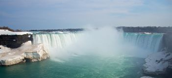 Het de lentepanorama van beroemde Niagara valt Hoefijzerdalingen royalty-vrije stock foto