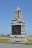 het 6de Monument van New York Calvary in Gettysburg, Pennsylvania Royalty-vrije Stock Fotografie