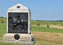 het 9de Monument van New York Calvary in Gettysburg, Pennsylvania Royalty-vrije Stock Fotografie