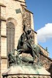 Het de moordenaarSt. George van de Draak standbeeld Stock Fotografie