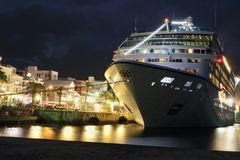 Het de nachtleven van Hamilton de Bermudas stock foto's