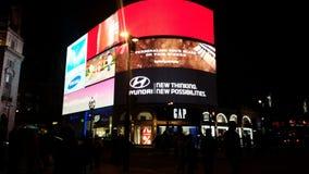 Het de nachtleven van het Piccadillycircus stock afbeeldingen