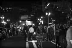 Het de nachtleven van Portland! stock foto