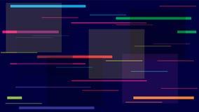 Het de Nachtleven van raceautolichten, Snelheidslijnen, Neonit, hallo de Vectortextuur van Technologie Internet-Moderne de Banner stock illustratie