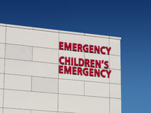 Het de noodsituatieziekenhuis van kinderen royalty-vrije stock afbeelding