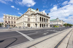 Het de Operahuis van de Staat van Wenen - Oostenrijk Royalty-vrije Stock Foto's
