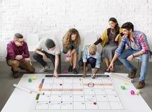 Het de Organisatiebeheer van de kalenderontwerper herinnert Concept eraan Royalty-vrije Stock Afbeelding