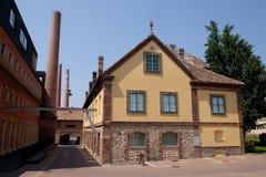 Het de oude fabriek en bureau van Zsolnay omgezet in Zsolnay-Centrum in Pecs Hongarije Royalty-vrije Stock Fotografie