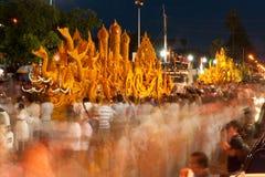 Het de paradefestival van de kaars toont. Royalty-vrije Stock Foto