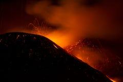 het 10de paroxisme van Etna van 2013 Stock Afbeeldingen