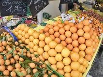 Het de sinaasappelencitrusvruchten en snoepje zijn populair en nuttig lichaam voor verkoop op de markt stock afbeelding