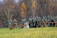 Het de slag historische weer invoeren van Moskou Royalty-vrije Stock Foto