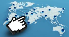 Het de sociale Aansluting en Groepswerk van het Netwerk Stock Foto