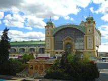 Het de Tentoonstellingscentrum van Praag, als het Holesovice-Tentoonstellingscentrum dat ook wordt bekend Royalty-vrije Stock Fotografie