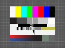 Het de testscherm van TV Stock Afbeeldingen