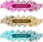 Het de uitstekende banner/etiket van de stijllotusbloem Stock Fotografie