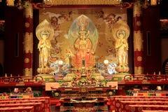 Het de van het de Tandoverblijfsel van Boedha Tempel en Museum, op Tang-dyna wordt gebaseerd die Stock Foto's