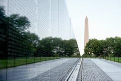 Het de Veteranengedenkteken van Vietnam in Washington D C Stock Foto's