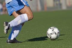 Het de voetwerk van het voetbal Stock Afbeeldingen