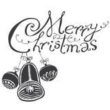 Het de vrolijke zwarte & wit van Kerstmis Stock Fotografie