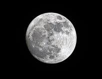 Het in de was zetten van gibbous super maan dicht bij zijn perigeum Royalty-vrije Stock Fotografie