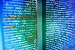 Het de werkruimtescherm van de softwareontwikkelaar Stock Afbeeldingen