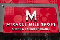Het de Winkelsteken van de Mirakelmijl in Las Vegas, NV op 20 Mei, 2013 Royalty-vrije Stock Fotografie