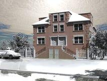 Het de winterhuis Stock Foto
