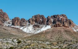 Het de winteronweer raakt Unie Pas in westelijk Arizona royalty-vrije stock afbeeldingen