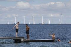 Het de zomerleven op een zonnige de zomerdag bij strand Royalty-vrije Stock Afbeeldingen