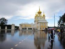 Het de Zomerpaleis in St. Petersburg na het regenen Stock Afbeelding