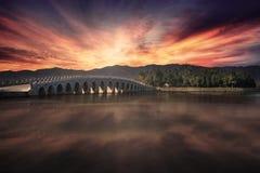 Het de Zomerpaleis in zonsondergangtijd stock afbeelding