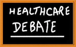 Het debat van de gezondheidszorg royalty-vrije stock foto's