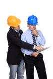 Het debatteren van zakenlieden Stock Afbeelding